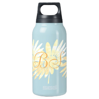 Fall Collection Flower Floral Add Initials Insulated Water Bottle