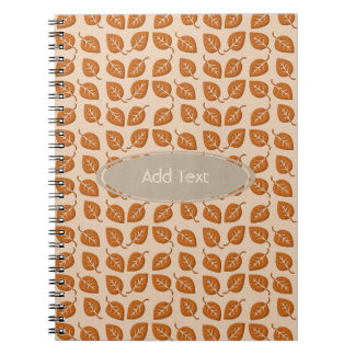 Fall Collection Leaf Pattern Journal