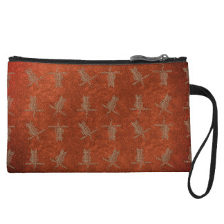 Fall Collection Orange Leather Funny Cats Bag