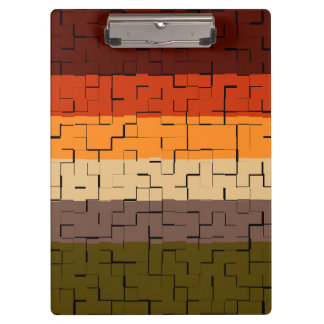 Fall Color Abstract Stripes Clipboard