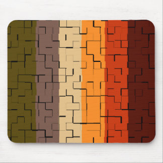 Fall Color Abstract Stripes Mouse Mat