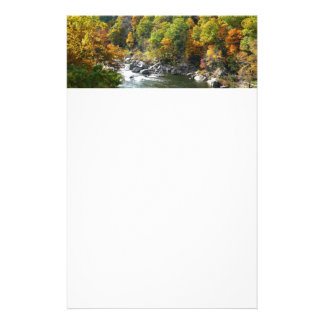 Fall Color at Ohiopyle State Park Customized Stationery
