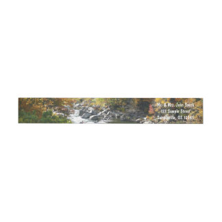 Fall Color at Ohiopyle State Park Wrap Around Label