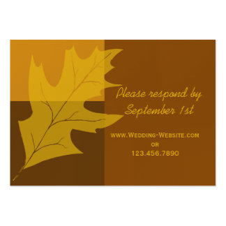 Fall Color Block Wedding RSVP Response Card Business Card Templates