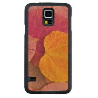 Fall color on Forest Pansy Redbud fallen Maple Galaxy S5 Slim Case
