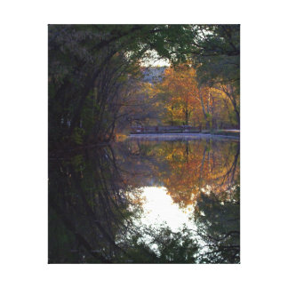 Fall Color on the C&O Canal Stretched Canvas Prints