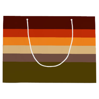 Fall Color Stripes Large Gift Bag