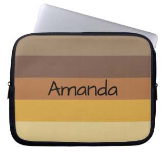 Fall Color Stripes - Personalizable Laptop Sleeve