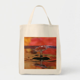 Fall Color Water Drop Grocery Tote