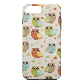 Fall Colored Owl Pattern iPhone 7 Plus Case