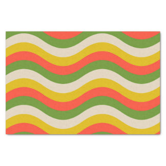 Fall Colored waves custom tissue paper