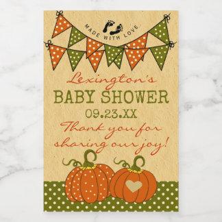 Fall Colors Autumn Pumpkins Thank You Guest Favor Food Label