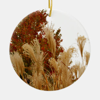 Fall Colors Autumn Season Nature Photography Round Ceramic Decoration
