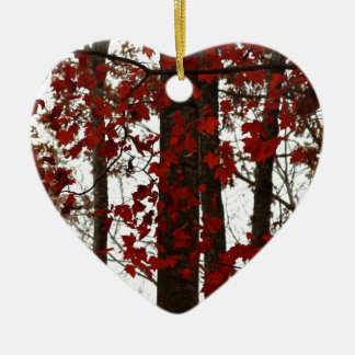 Fall Colors | Autumn Trees Red Maple Leaves Christmas Ornament