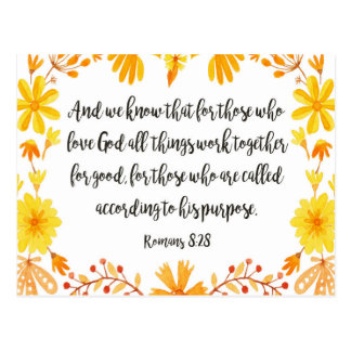 Fall Colors Bible Verse Postcard