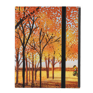 "Fall Colors bicycle Art ""Seasons of Love"" iPad Cover"