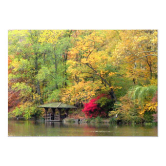 Fall Colors by the Lake Central Park 13 Cm X 18 Cm Invitation Card