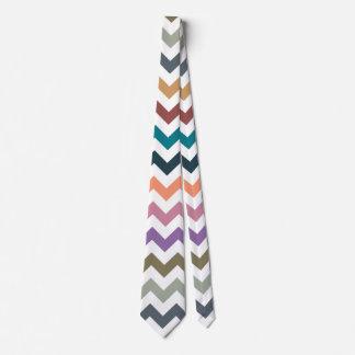 Fall Colors Chevron Stripes Tie