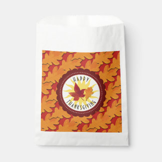 Fall Colors Happy Thanksgiving Favour Bags