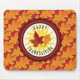 Fall Colors Happy Thanksgiving Mouse Mat