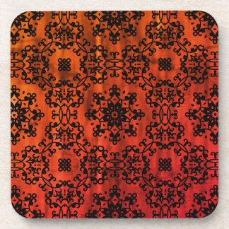 Fall colors kaleidoscope coaster