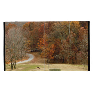 Fall Colors Landscape Autumn Trees Leaves Deer iPad Cases