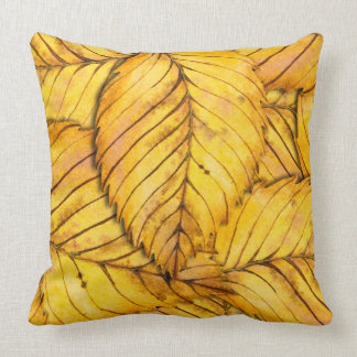 Fall Colors Leafs Pattern Throw Pillow