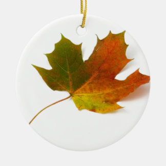 Fall Colors Maple Leaf Christmas Ornament