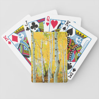 Fall colors of Aspen trees 1 Bicycle Playing Cards