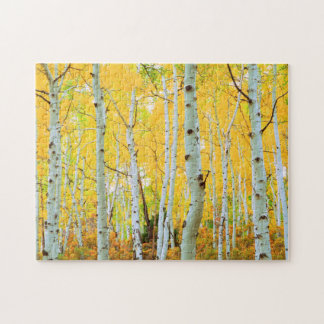 Fall colors of Aspen trees 1 Jigsaw Puzzle