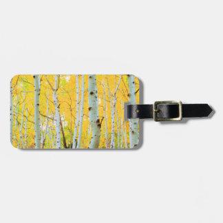 Fall colors of Aspen trees 1 Luggage Tag