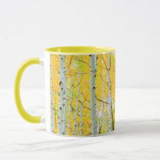 Fall colors of Aspen trees 1 Mug