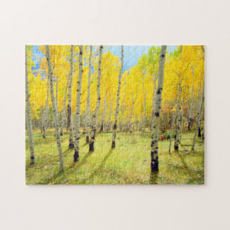 Fall colors of Aspen trees 4 Jigsaw Puzzle