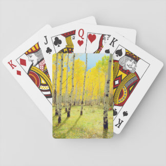 Fall colors of Aspen trees 4 Playing Cards