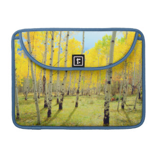 Fall colors of Aspen trees 4 Sleeve For MacBooks
