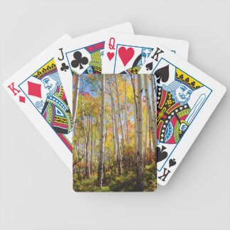 Fall colors of Aspen trees 5 Bicycle Playing Cards