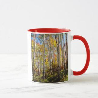 Fall colors of Aspen trees 5 Mug
