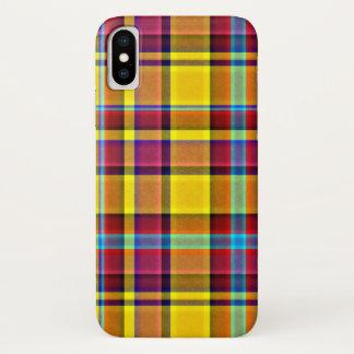 Fall Colors Plaid Tartan iPhone X Case