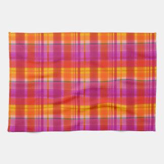 Fall Colors Plaid Tea Towel