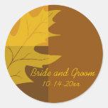 Fall Colour Block Wedding Envelope Seals Sticker