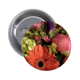 fall colours bouquet 2 inch round button