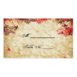Fall Colours: Burgundy and Red Wedding Place Cards Pack Of Standard Business Cards