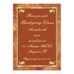 Fall Colours Marbled Paper Thanksgiving Invitation 13 Cm X 18 Cm Invitation Card