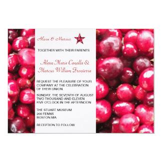 Fall Cranberries Wedding Invitation