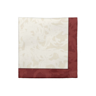 Fall Cream and Maroon Fleur Napkin