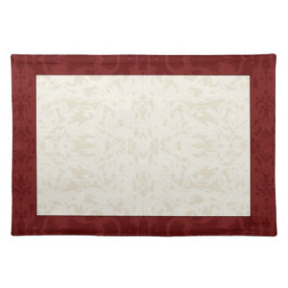 Fall Cream and Maroon Fleur Placemat