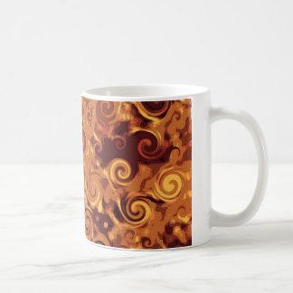Fall Curling - Abstract Basic White Mug