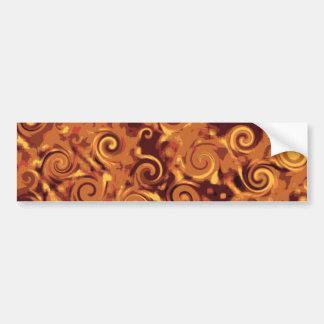 Fall Curling - Abstract Bumper Sticker