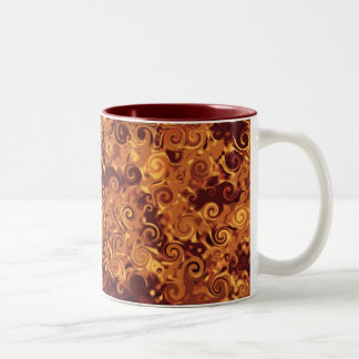 Fall Curling - Abstract Coffee Mug