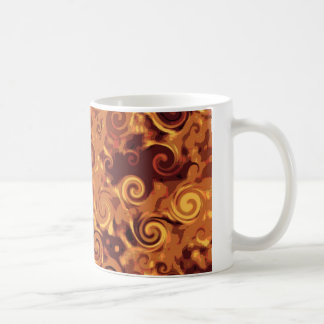 Fall Curling - Abstract Coffee Mugs